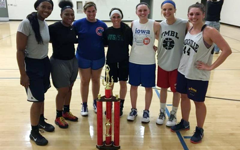 2017 Adult Basketball Women's Champions: Team Grove